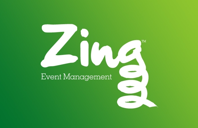 Zing Event Management - Logo Design (Negative Version)