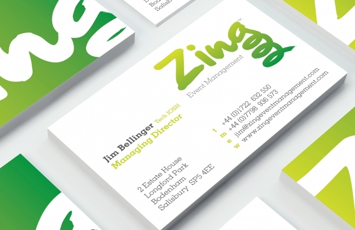 Zing Event Management (Salisbury) - Business Cards (Front)