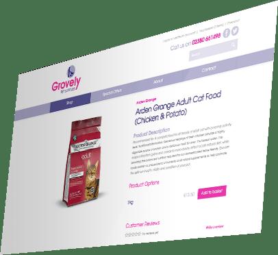 Grovely Pet Supplies Website