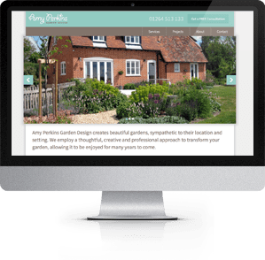 See website designed for Amy Perkins Garden Design, Andover, Hampshire
