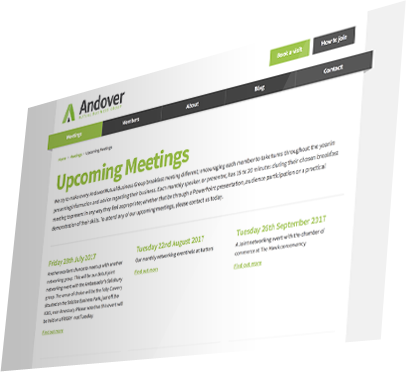 Andover Mutual Business Group Website - Meetings