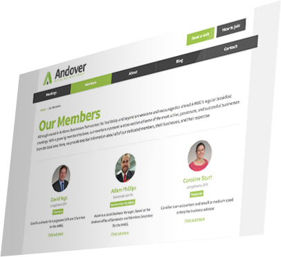 Andover Mutual Business Group Website - Members