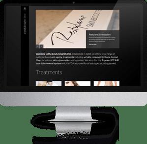 Responsive Website designed for Cindy Knight Clinic, Tonbridge, Kent