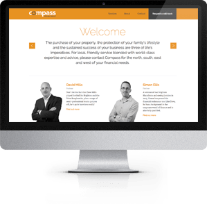 Responsive Website designed for Compass Personal Finance, Southampton
