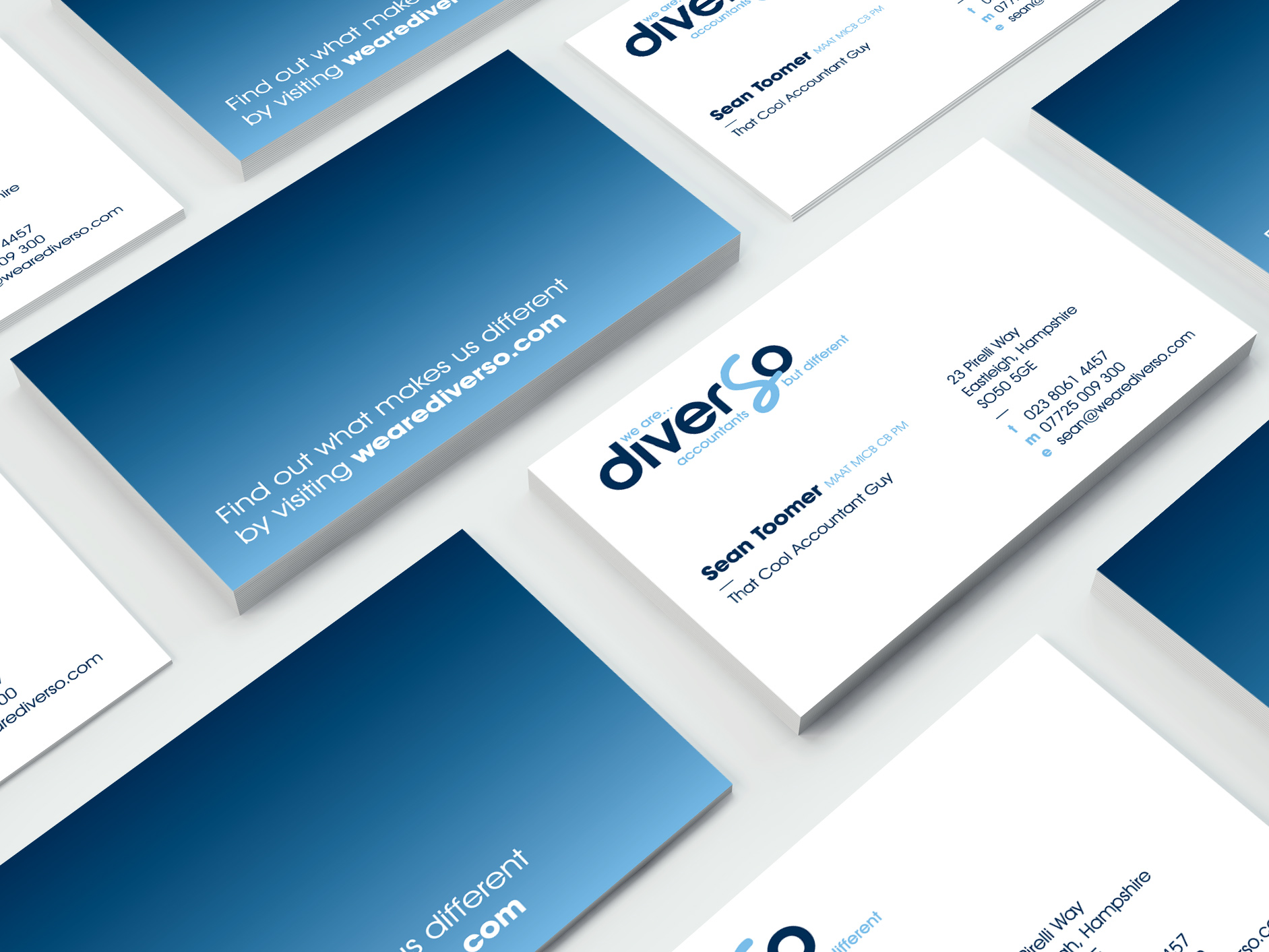 Diverso Southampton Business Cards