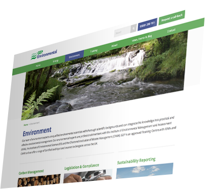 GEP Environmental, Winchester - Website Services