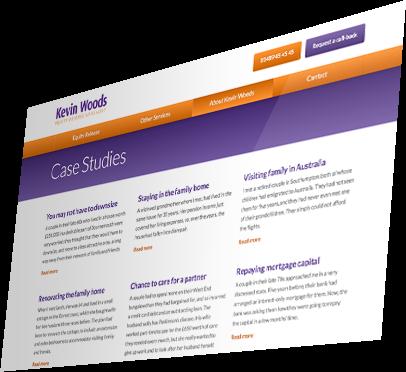 Kevin Woods (Southampton) Website - Case Studies