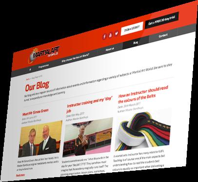 Martial Art World (Andover) Website - Blog