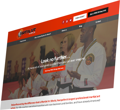 Martial Art World (Andover) Website - Home Page
