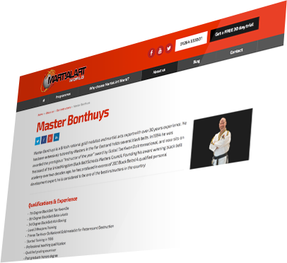 Martial Art World (Andover) Website - Instructor Detail
