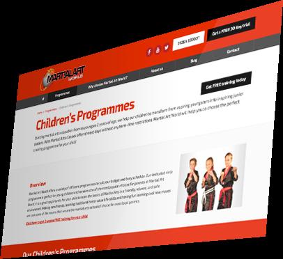 Martial Art World (Andover) Website - Programme Detail