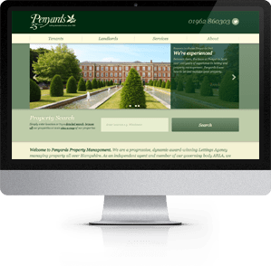 See website designed for Penyards, Winchester, Hampshire