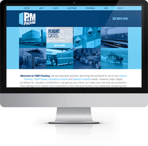 See the new website designed for P&M Packing, Eastleigh, Hampshire