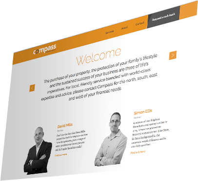 Compass Financial Advisors (Responsive Website), Southampton