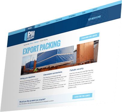 P&M Packing Website