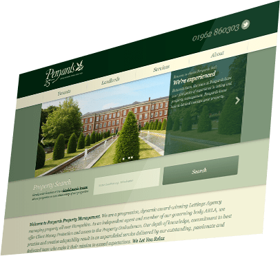 Penyards Property (Responsive Website), Winchester, Hampshire