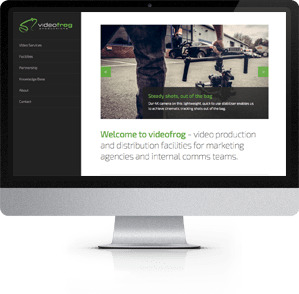 Responsive Website designed for videofrog, Winchester, Hampshire