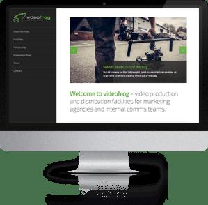 Responsive Website designed for videofrog, Winchester, Hampshire