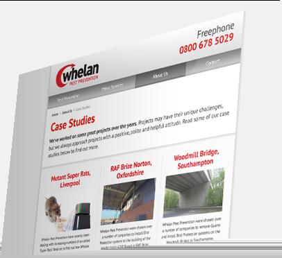 Whelan Pest Prevention (Southampton) Website - Case Studies